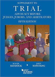 HAYDOCK'S SUPPLEMENT TO TRIAL ADVOCACY (5TH, 2015) 9781634597586