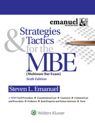 EMANUEL: STRATEGIES & TACTICS FOR THE MBE  2ND EDITION 2016