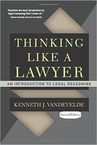 VANDEVELDE'S THINKING LIKE A LAWYER (2ND, 2010) 9780813344645