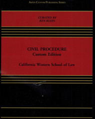 CIVIL PROCEDURE CUSTOM EDITION (2016) 9781454881582
