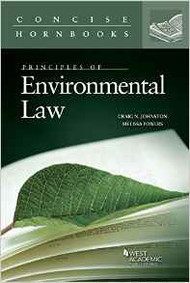 JOHNSTON'S PRINCIPLES OF ENVIRONMENTAL LAW  (CONCISE HORNBOOK SERIES) 9780314195180