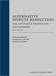 BRUNET'S ALTERNATIVE DISPUTE RESOLUTION (5TH, 2016) 9781632815446