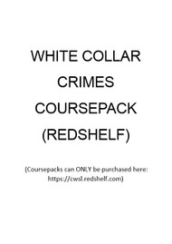 WHITE COLLAR CRIMES COURSEPACK