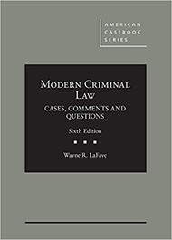 LAFAVE'S MODERN CRIMINAL LAW (6TH, 2017) 9781683285144