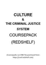 CULTURE AND THE CRIMINAL JUSTICE SYSTEM COURSEPACK