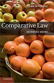 SIEMS' COMPARATIVE LAW (2014)(HARDCOVER) 9781107003750