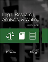 PUTMAN'S LEGAL RESEARCH, ANALYSIS, AND WRITING (4TH, 2017) 9781305948372