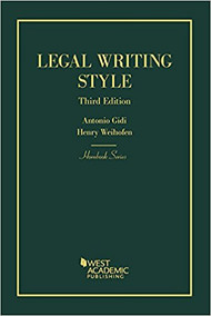 GIDI'S LEGAL WRITING STYLE (HORNBOOK SERIES)(3RD, 2018) 9781634592963