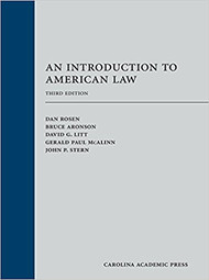 ROSEN'S AN INTRODUCTION TO AMERICAN LAW (3RD, 2017) 9781611638455