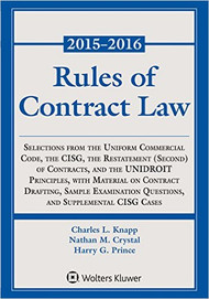 RULES OF CONTRACT LAW STATUTORY SUPPLEMENT 2015 -2016