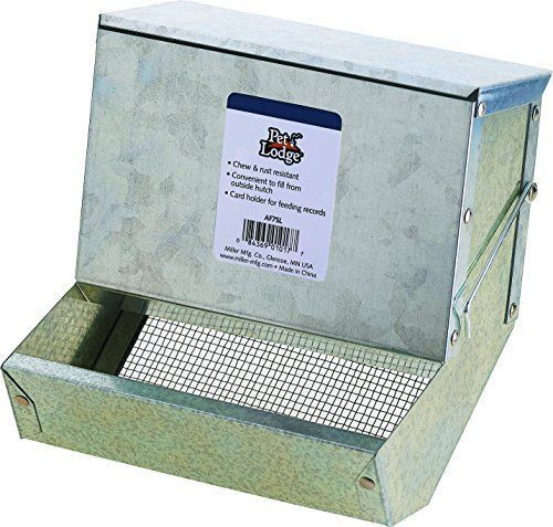 "Miller 7"" Rabbit Sifter Feeder with Lid (12 Pack)"