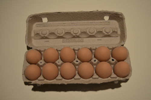 1 Dozen Ceramic Nest Eggs in Grade A Large Carton