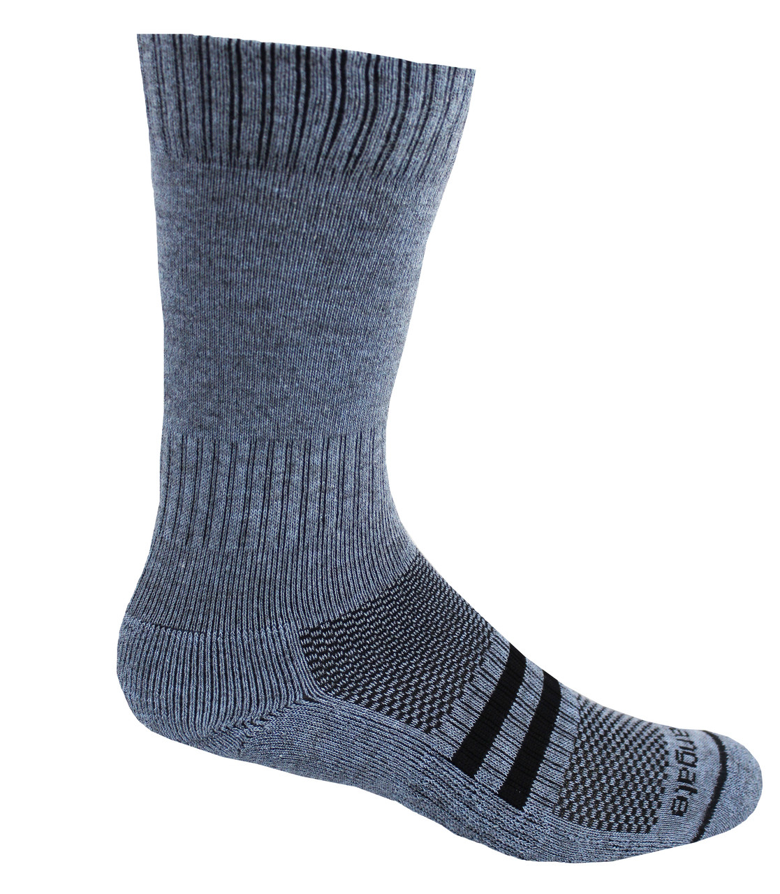 Our mid-calf hiking socks feature compression bands at the ankle and instep which insure a great fit.