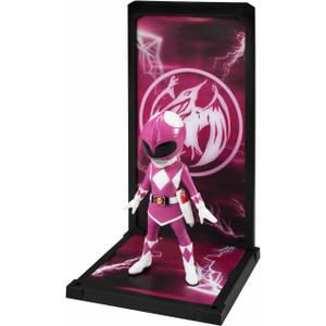 "Pink Ranger: ~3.5"" Power Rangers x Bandai Tamashii Buddies Mini Statue Figurine"