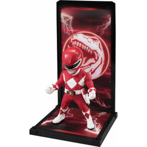 "Red Ranger: ~3.5"" Power Rangers x Bandai Tamashii Buddies Mini Statue Figurine"