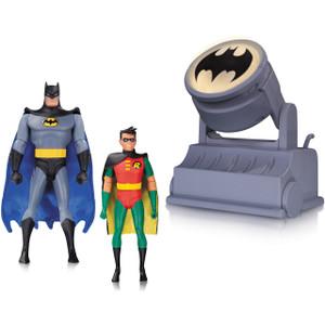 Batman & Robin  w/ Batsignal : Batman The Animated Series x DC Collectibles Action Figure