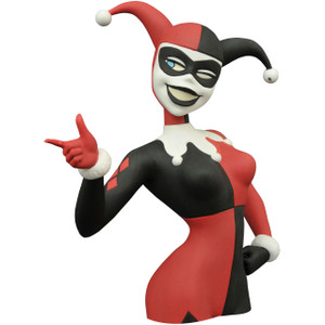 "Harley Quinn: ~7"" Batman: The Animated Series x Diamond Select Figural Bust Bank"