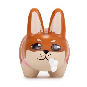 """Shiba Inu: ~2.5"""" Kidrobot Kibbles 'n Labbits by Frank Kozik Mini-Figure [RARE]"""