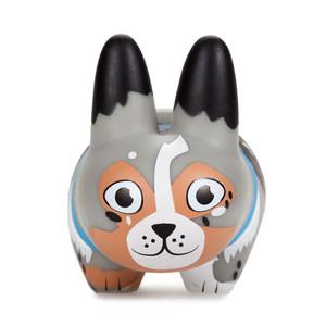 """Australian Shepherd: ~2.5"""" Kidrobot Kibbles 'n Labbits by Frank Kozik Mini-Figure [RARE]"""