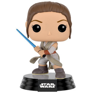 Rey with Lightsaber: Funko POP! x Star Wars Vinyl Figure