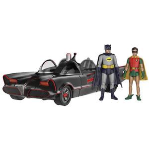 Batmobile  with Batman & Robin: Funko Action Figure x Batman Classic Series Mini Action Figure Set