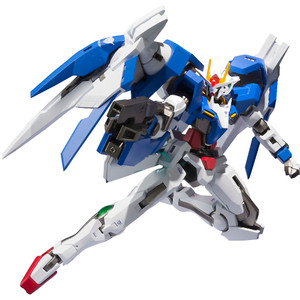 GN-0000+GNR-010 00 Raiser + GN Sword III: Gundam 00 x Bandai Metal Robot Spirits Action Figure (Side MS)