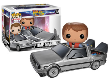 Delorean with Marty: Funko POP! Rides x Back to the Future Vinyl Figure