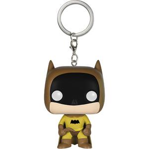 Batman [Yellow]: Funko Mystery Pocket POP! x The Rainbow Batman Mini-Figural Keychain