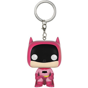 Batman [Pink]: Funko Mystery Pocket POP! x The Rainbow Batman Mini-Figural Keychain