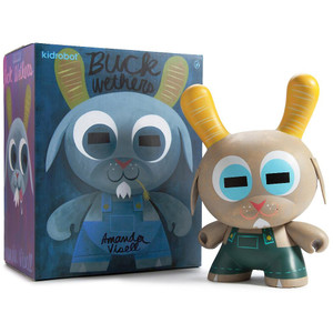 "Buck Wethers [Country Peach]: ~8"" Amanda Visell x Kidrobot Dunny Figure"