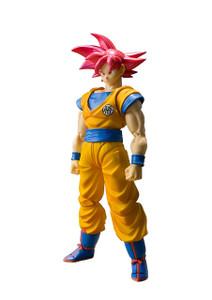 "Super Saiyan God Son Goku: ~5.5"" DragonBall Super x Tamashii Nations S.H. Figuarts Action Figure"