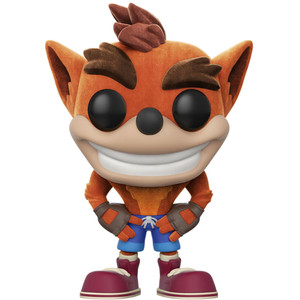 Crash Bandicoot [Flocked] (GameStop Exclusive): Funko POP! Games x Crash Bandicoot Vinyl Figure [#273]