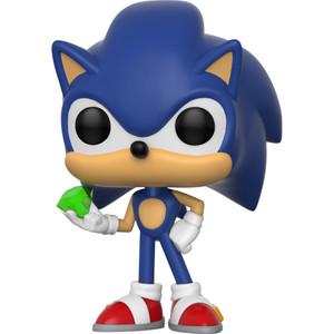 Sonic w/ Emerald: Funko POP! Games x Sonic the Hedgehog Vinyl Figure [#284]