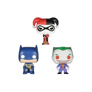 Batman, Harley, The Joker Tin Boxset: Pocket POP! x DC Universe - Batman Mini-Figure