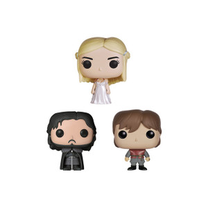 Jon Snow, Daenerys Targaryen, Tyrion Lannister Tin Boxset: Pocket POP! x Game of Thrones Mini-Figure
