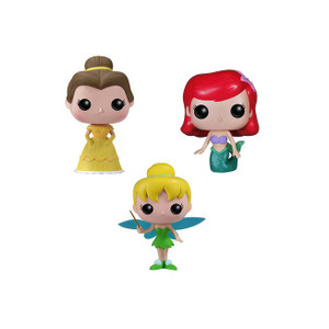 Belle, Tinker Bell, Ariel Tin Boxset: Pocket POP! x Disney Mini-Figure