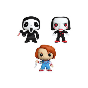 Ghost Face, Chucky, Billy Tin Boxset: Pocket POP! x Horror Classic Mini-Figure