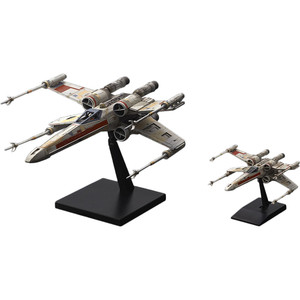 Red Squadron X-Wing Starfighter: Bandai Star Wars 1/72 & 1/144 Plastic Model Kit Special Set