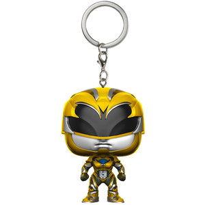 Yellow Ranger: Funko Pocket POP! x Power Rangers Mini-Figural Keychain