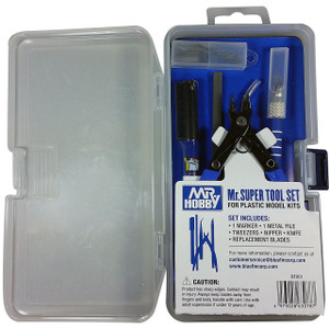 Mr. Super Tool Set: Mr. Hobby Gundam Model Kit Building Accessory