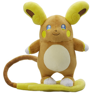 "Alolan Raichu: ~8.5"" Pokemon Center Japan Poké Doll Plush"