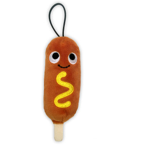 "Cornelius Corn Dog: ~4"" Kidrobot Yummy World Cute Cravings Mini Plush"