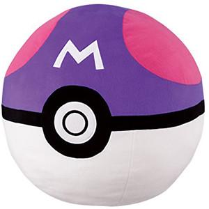 "Master PokeBall: ~13"" Pokemon Sun & Moon x Banpresto 'Very Big' PokeBall Plush (37095B)"