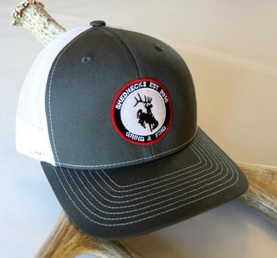 ShedNecks Patch Hat on Grey & White