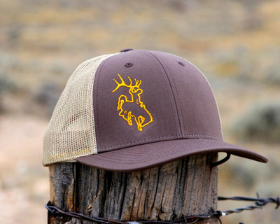 Bucking Horse Edge -Brown and Gold