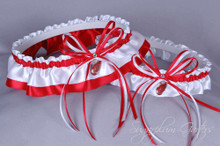 Detroit Red Wings Wedding Garter Set