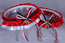 Chicago Bulls Wedding Garter Set