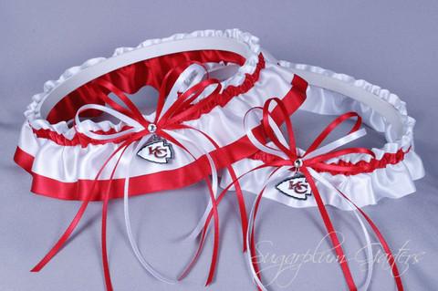 Kansas City Chiefs Wedding Garter Set
