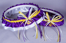 Los Angeles Lakers Wedding Garter Set