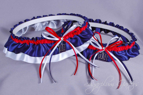 New York Giants Wedding Garter Set